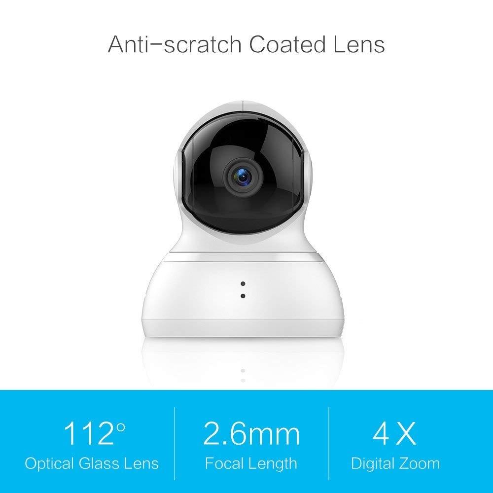 YI caméra dôme Pan/Tilt/Zoom Sans Fil Système de Surveillance de Sécurité IP HD 720 p vision nocturne (US/EU version) YI Nuage Disponibles - 2