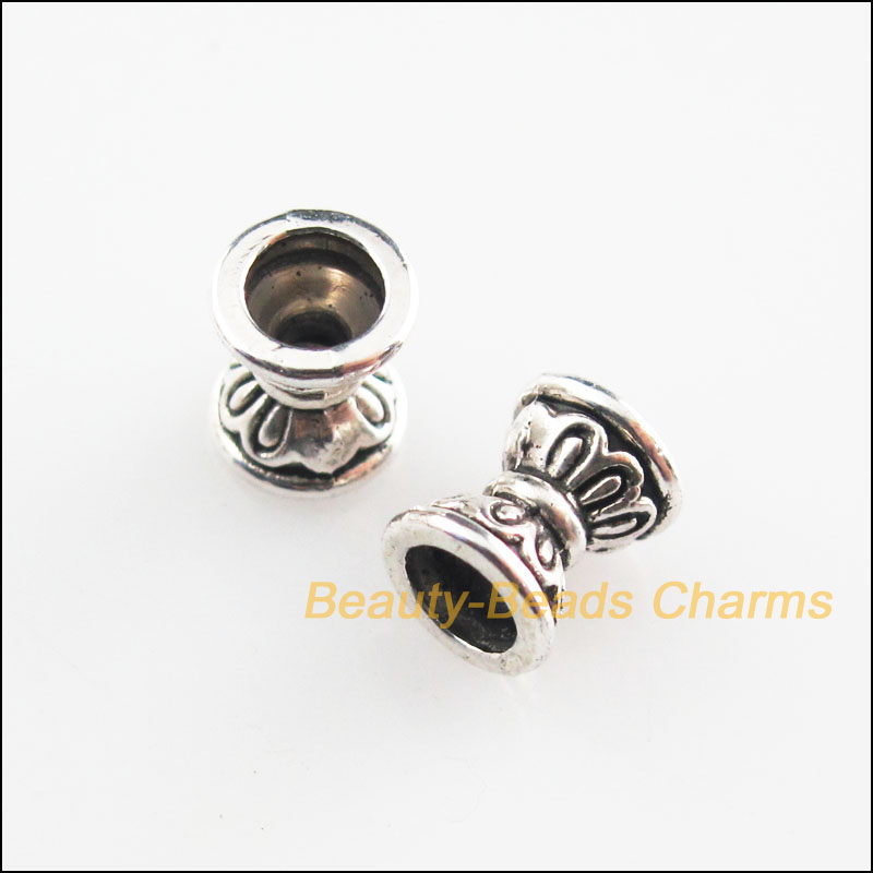 5mm 40 Antique Silver Heart Spacer Beads