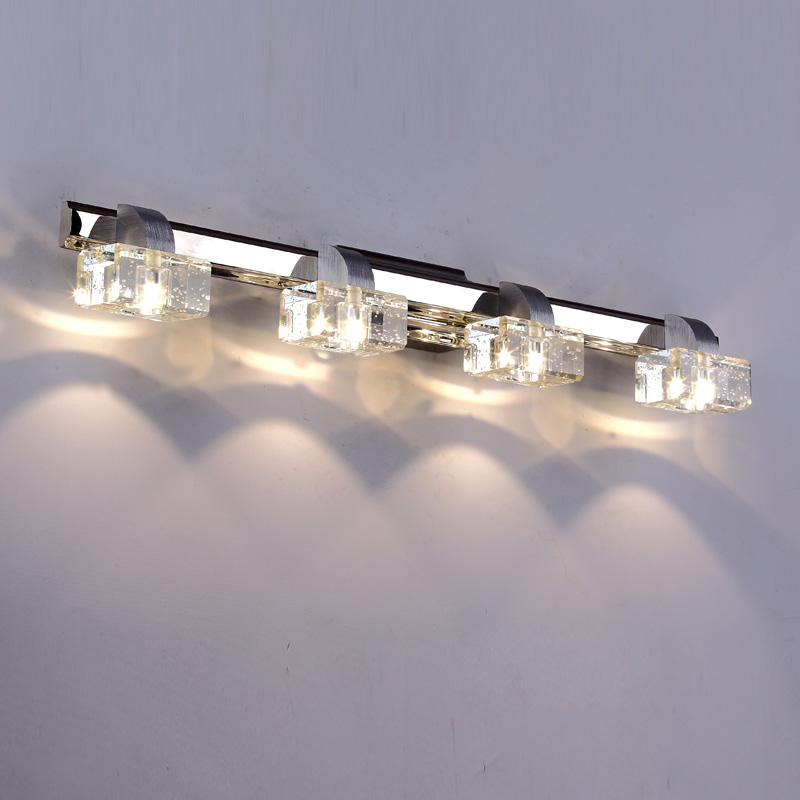 Luxury 6W-12W LED Crystal Bathroom Wall lamp Mirror Front Wall Sconces washroom Crystsal Aluminum wall lamp luxury modern white acrylic 12w led bathroom wall lamp mirror front fashion wall light showroom washroom wall lamp