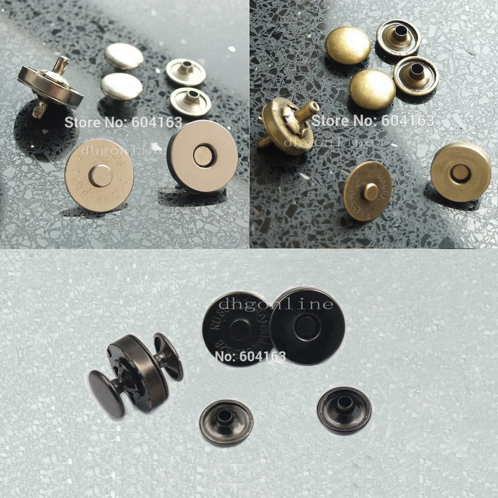 5 clasps new brass round silver with a ratchet 14 mm