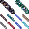 sale 8mm AB Color 70pcs/lot Glass Beads DIY Cut Faceted Crystal Charm Spacer Rondelle Stand Beads Wholesale Free Shipping