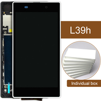 10pcs DHL For Sony Xperia Z1 L39H LCD With Frame C6902 C6903 C6906 Digitizer Assembly Mobile