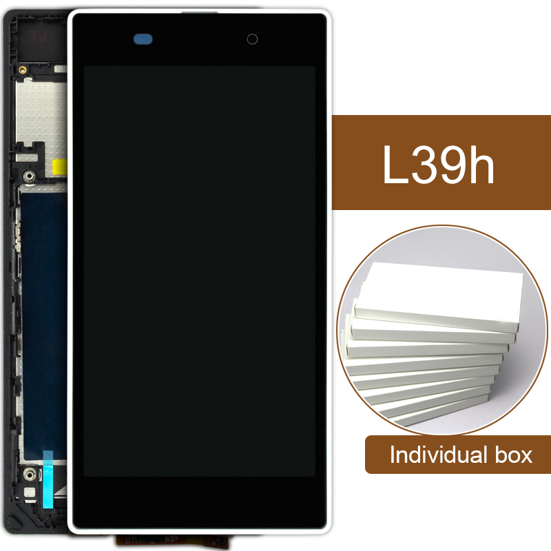 10pcs DHL For Sony Xperia Z1 L39H LCD With Frame C6902 C6903 C6906 Digitizer Assembly Mobile Phone Replacement 5'' Display