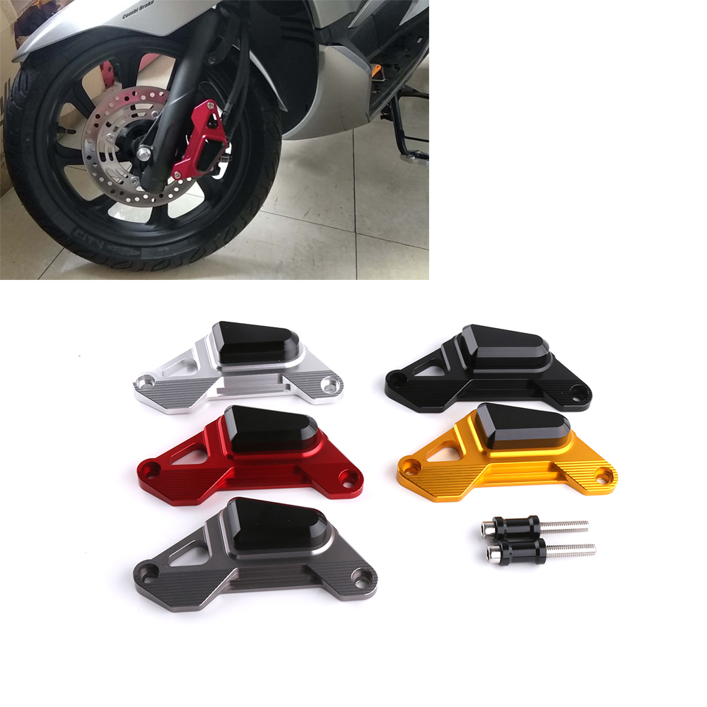 Motorcycle CNC Aluminum Front Disc Caliper Brakecaliper Brake Guard Protector Cover For Honda PCX 125 All Years PCX 150 12-18 cnc aluminum motorcycle accessories front brake disc caliper protector cover for kawasaki z900 z 900 2017 brake caliper guard