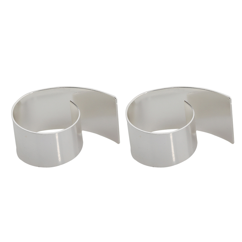 2pcs Pack Silver Napkin Rings Wedding Party Serviette Table Decoration Accessories Stainless Steel Ring 884419 In From Home Garden On