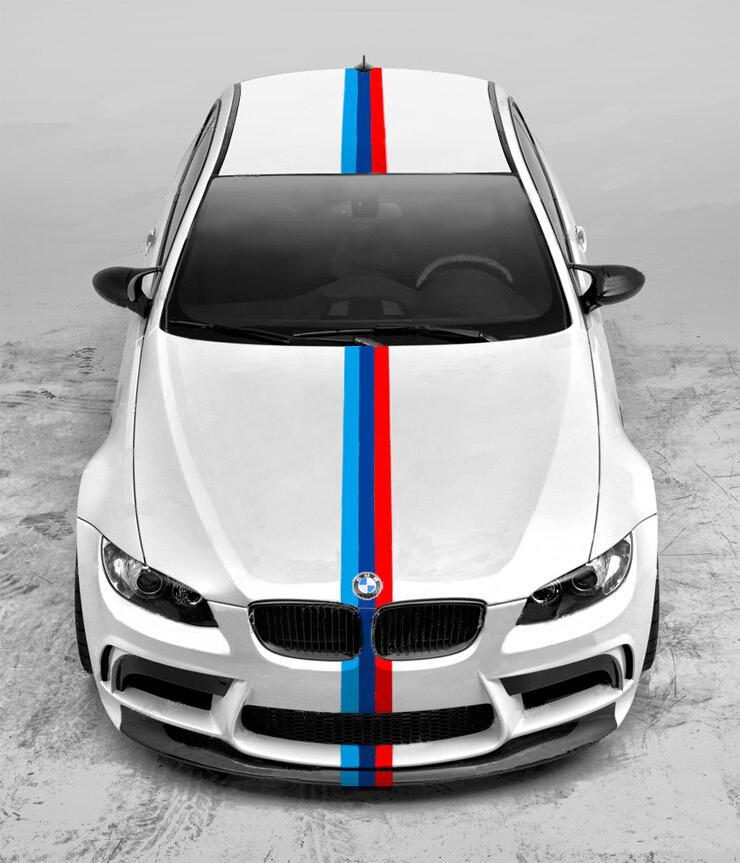 4,4 Meter Leistung 3 Farben Pull Blumen Farbe Streifen Auto ...