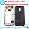 Para samsung galaxy s5 mini g800f g800h g800a nueva original teléfono de La puerta de la Batería tapa de la carcasa Carcasa Intermedia + Herramienta Gratuita gratis