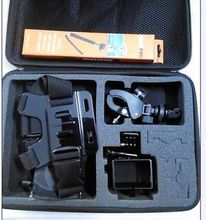 Large Bag kit/Handheld Monopod/Chest Strap/Protective Frame for Gopro Camera F07568-B