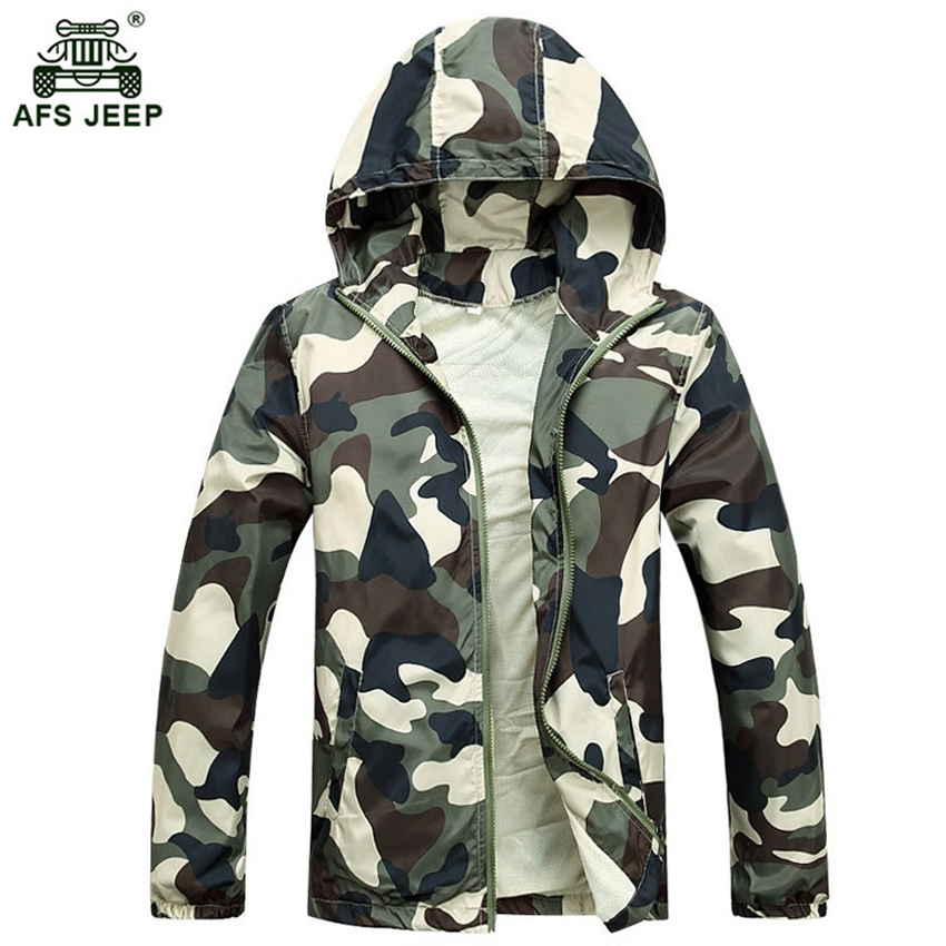 Free Shipping 2017 Hot Sale Mens Outwear Thin Jackets Coats Fashion Camouflage Jacket Summer Male Hooded Sunscreen Coat Cheap