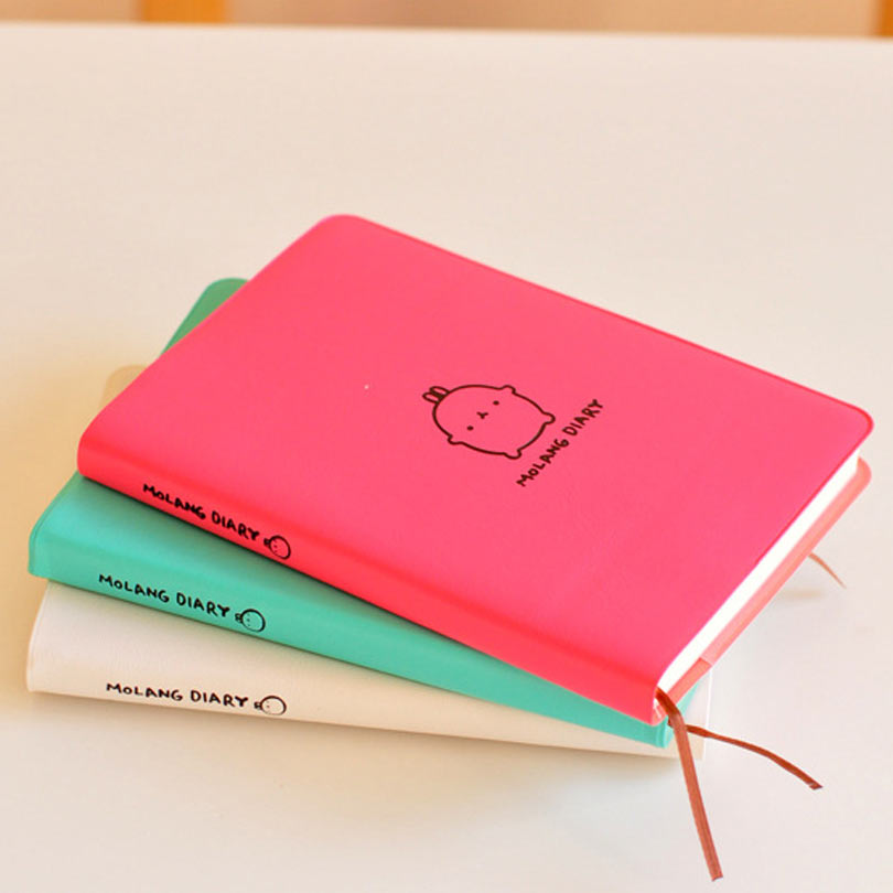 2016-2017 Cute Kawaii Notebook Cartoon Molang Rabbit Journal Diary Planner Notepad for Kids Gift Korean Stationery cute kawaii cartoon rabbit journal notebook diary planner notepad for kids gift korean stationery wj0014