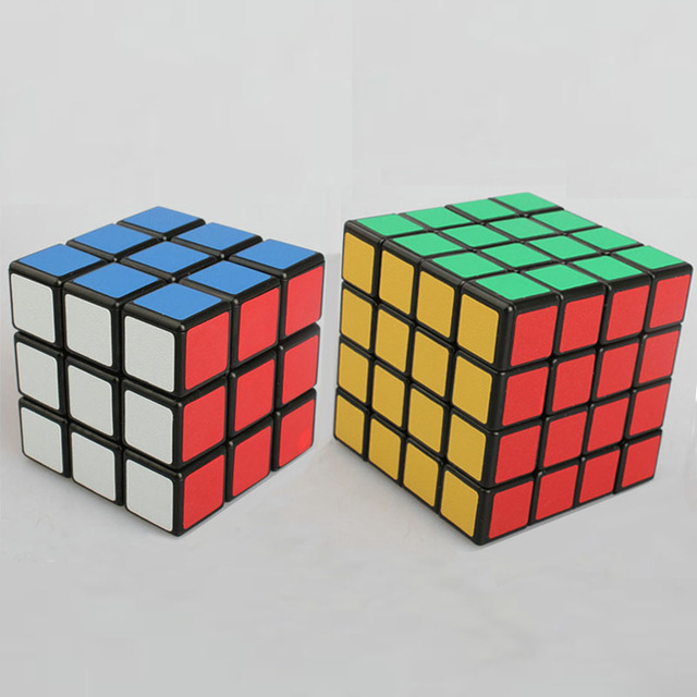 2pcs Puzzle Cube Set 3x3x3 and 4x4x4 Professional Shengshou Speed Cube Cube Toy for Children and Adults