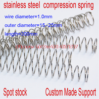 5pcs 1 10 305mm Stainless Steel Spot Spring 0 8mm Wire Hammer Spring Y Type Compression