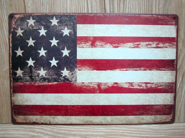 vintage tin signs UA-0220 about american national flag metal painting home decorative