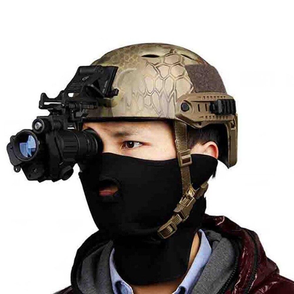 Охота Ночное видение прицел Монокуляр устройства Водонепроницаемый Ночное видение очки PVS-14 цифровой ИК подсветки для шлема Новый