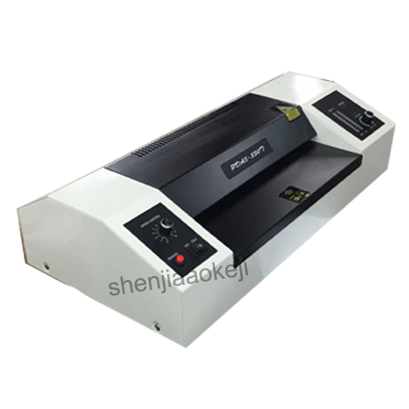 220v 620w Speed-adjusting Laminator 330T Four roller Laminator slice heating photo laminating machine paper sealing machine 1pc