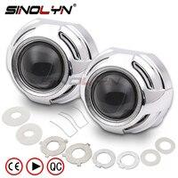 SINOLYN 3.0 inches Pro Metal HID Bi xenon Projector Lens Headlight Retrofit Kit Xenon Headlamps H1 H4 H7 Car styling Accessories