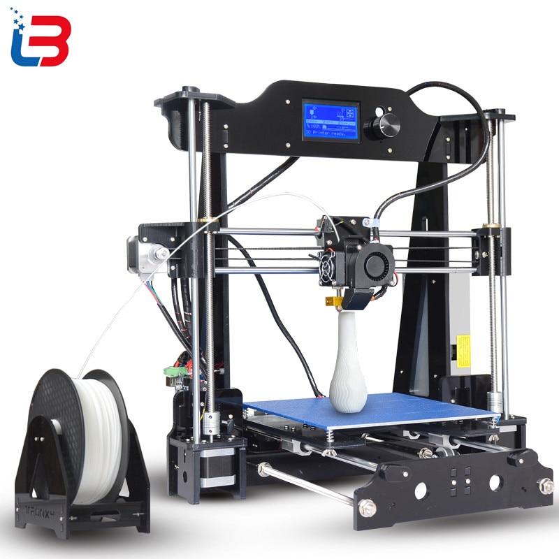 2017 Upgrade Tronxy X8 model Newest 3D Printer 12864 LCD display aluminium MK3 heatbed MK8 direct