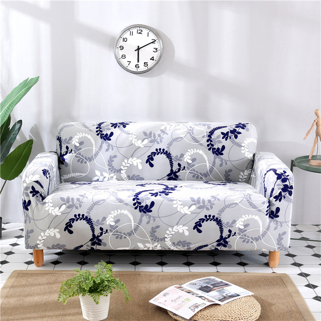 Decoruhome One Piece Sofa Cover Flower Geometry Plaid Fashion Detachable All Inclusive Protective Slipcover