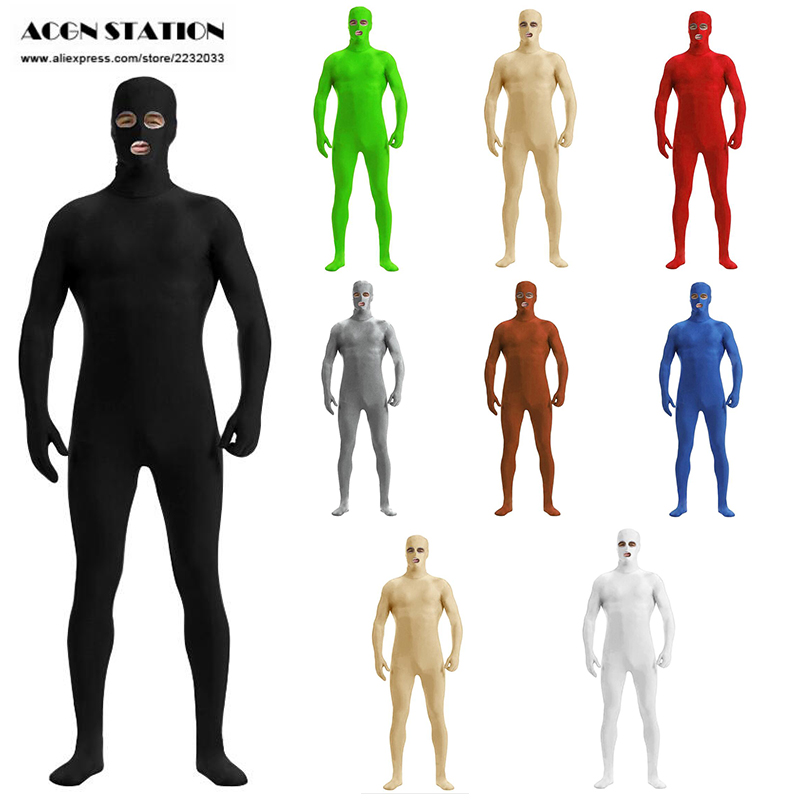 Zentai suit Open Eyes Open mouth Skin Suit Catsuit Halloween Costumes Bodysuit Unisex unitard customized unitard Stage unitard