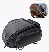 High quality retro microfiber leather motorcycle rear seat bag motorbike Toolkit 883/ Z750/800/CBR1000 off road vehicle Rear bag