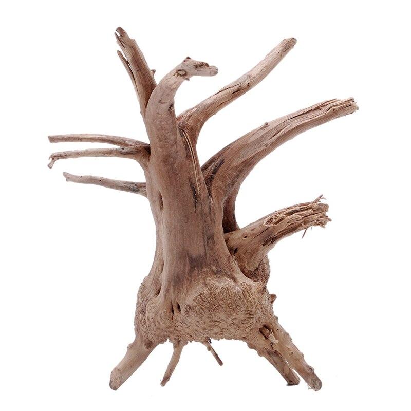 Wood Natural Tree Trunk Driftwood Aquarium Fish Tank Plant Decoration Ornament-