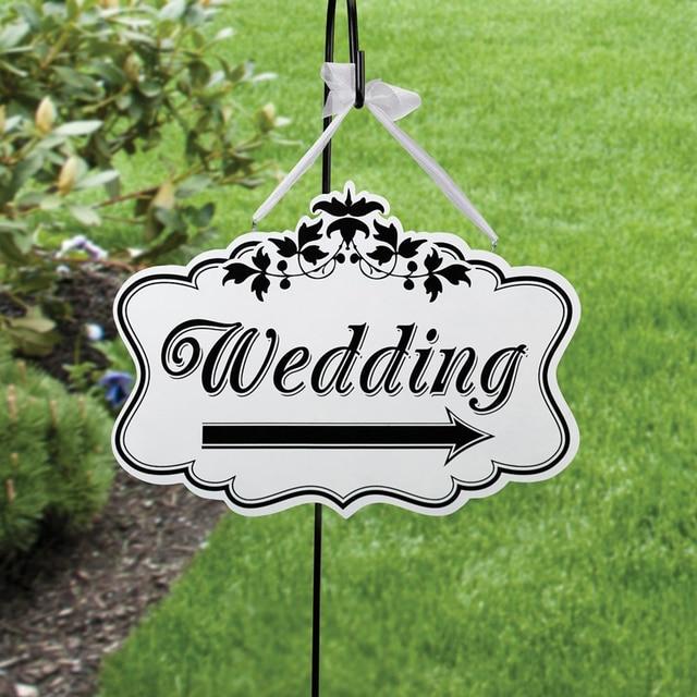 Wooden Rustic Wedding Sign Indicator Arrow Board
