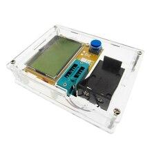 2016 Mới Nhất LCR T4 ESR Meter Transistor Tester Diode Triode Dung Mos Mega328 Transistor Tester + TRƯỜNG HỢP (không Pin)