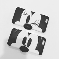 3D Cartoon Minnie Mickey Mouse Donald Duck PU Leather Hard Cover Case For IPhone 6 6s