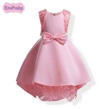 Erapinky letní bow krajka míč šaty děti dívky strana šaty bez rukávů princezna  šaty pro narozeniny   svateb. 81753f5a4c
