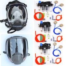Veiligheid Chemicaliën Met Functie Geleverd Air Fed Respirator Systeem Met 6800 Volledige Gezicht Industrie Respirator Gasmasker