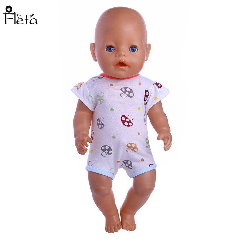 Fleta Nuevo pequeño patrón de setas Mono adaptable a 43cm Baby Born - Muñecas y accesorios - foto 1