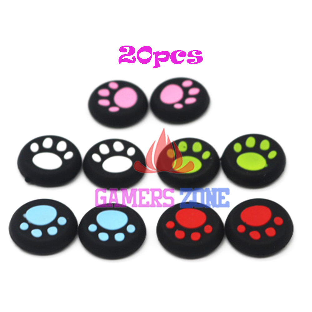20pcs Silicone Thumbstick Grip Cover Caps Cat Paw for PS3 PS4 Xbox One Xbox 360