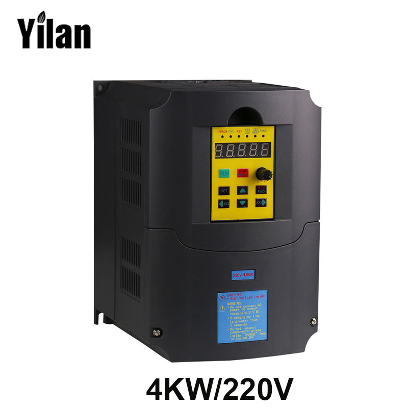 220v 4kw 1 Phase Input And 220v 3 Phase Output Frequency Converter Ac Motor Drive Ac