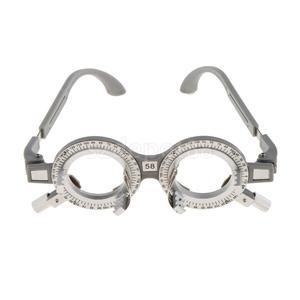 Image 4 - 2 pces universal ajustável lente de avaliação óptica quadro óculos optometry optician teste óptico lentes de teste quadro 62mm 58mm