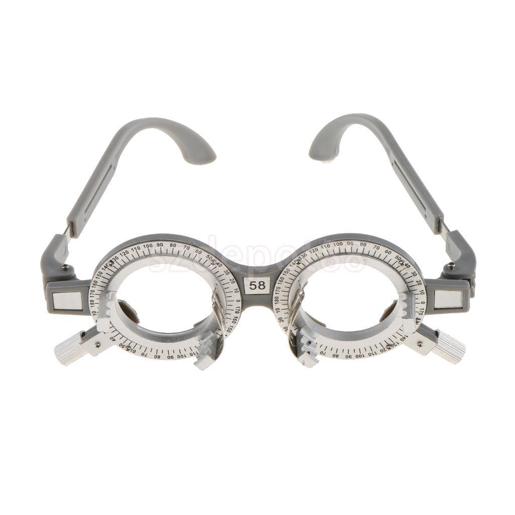 4e935ada1a4f9c 2 pièces réglable universel optique essai lentille cadre lunettes optométrie  opticien optique essai lentilles cadre 62mm 58mm dans Accessoires de  Vêtements ...
