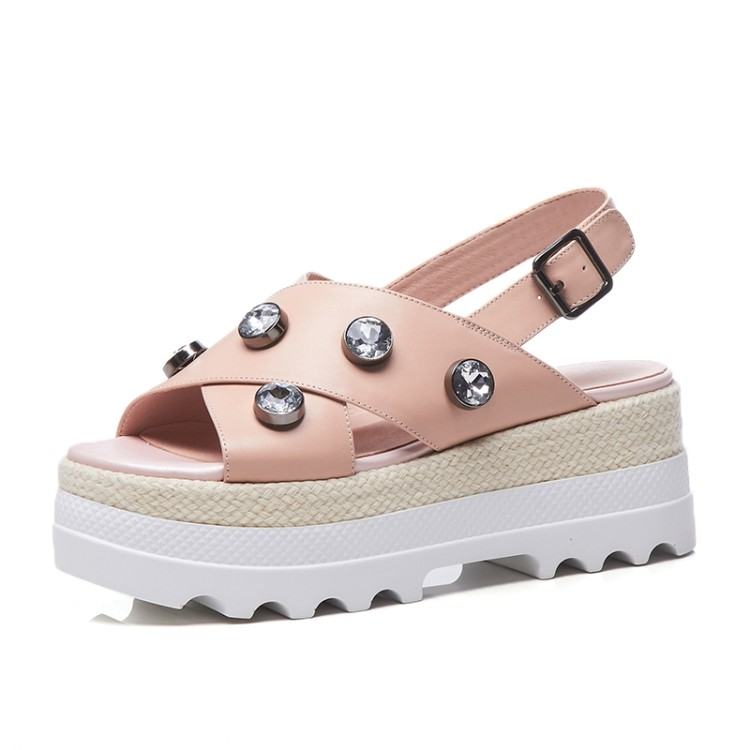 72f86108b0f23  Zorssar  2018 New Fashion rhinestone Casual Flats Beach shoes Women Sandals  Summer Shoes Women Open toe flat platform Sandals-in High Heels from Shoes  on ...