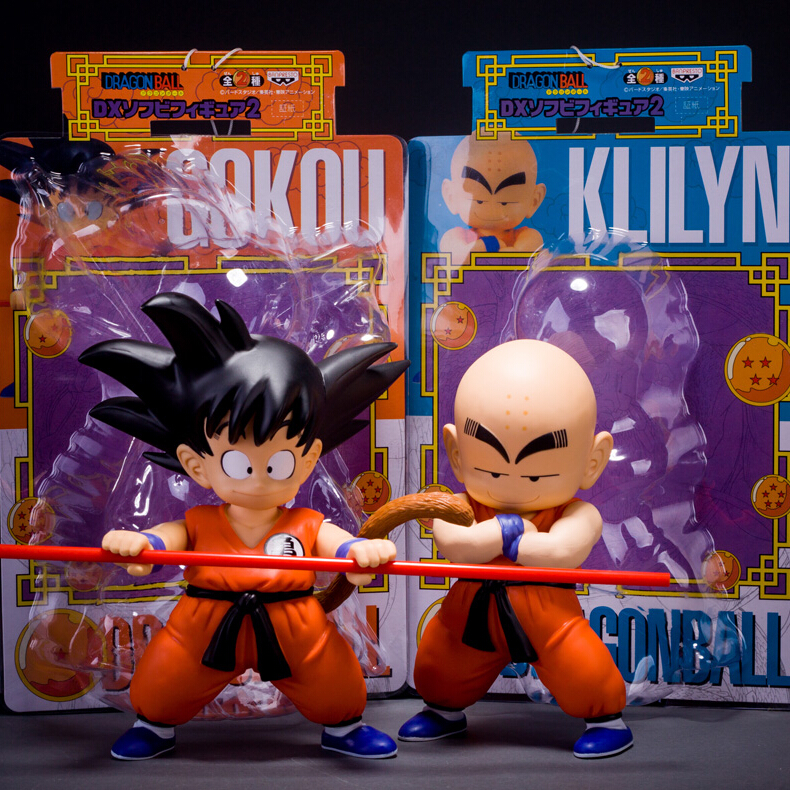 2017 new 2pcs/lot Japan anime Z Goku Kuririn pvc action figure dragon ball model kids toys hot sale free shipping juguetes how to train your dragon 2 dragon toothless night fury action figure pvc doll 4 styles 25 37cm free shipping retail