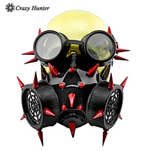 Punk Gothic rivet Mask Makeup Cosplay Party Steampunk Gas Mask Anime Halloween
