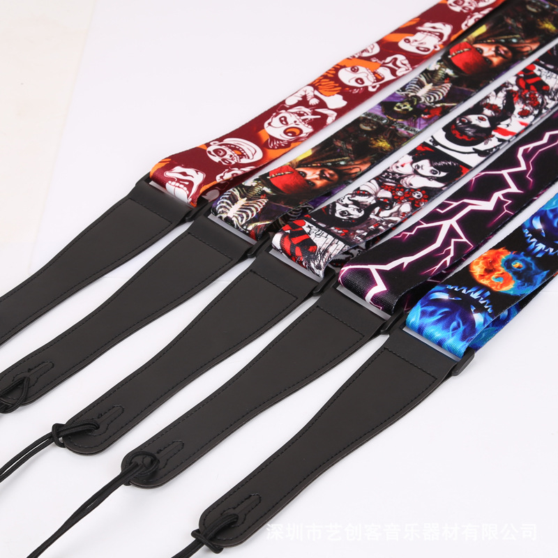 Guitar Strap Guitarra Comfortable Adjustable Guitar Straps Shoulder Strap for Electric Acoustic Bass Classical Guitar polyester and nylon guitar strap for acoustic electric guitar and bass multi color guitar belt s008