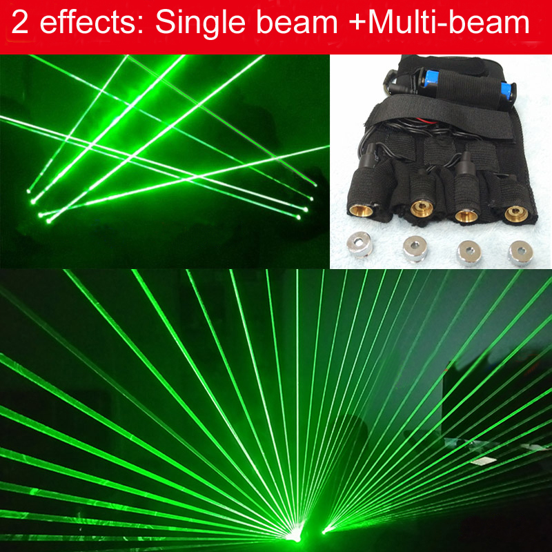 532nm Green laser gloves 4 lazer modules Stage Lazer Light Shows Dancing Floor Laserlight Multi function Laser Dance Lights multi function green