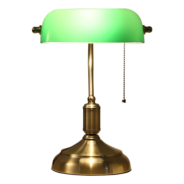 Classical glass desk lamp Traditional Banker's Lamp, 14