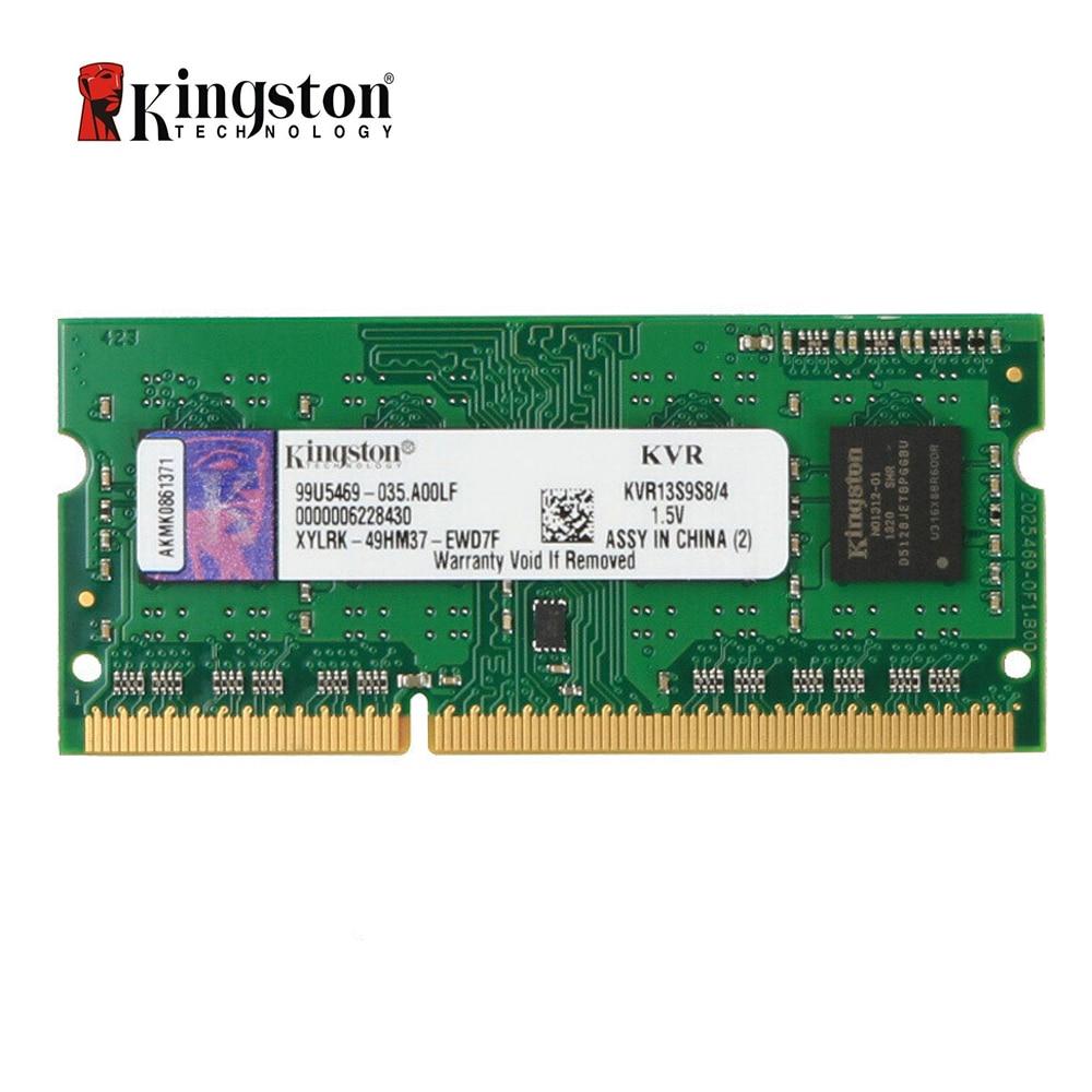 Kingston ValueRAM 4GB 1333MHz PC3-10600 DDR3 Non-ECC CL9 SODIMM SR X8 Notebook Memory (KVR13S9S8/4) kingston valueram 8gb 1600mhz ddr3 pc3 12800 non ecc cl11 sodimm notebook memory kvr16s11 8