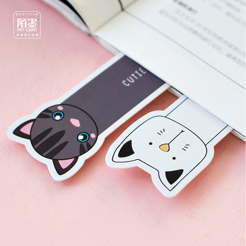 P05 30pcs/pack Kawaii Cute Oh Yeah Cats Paper Bookmark Decorative Craft Bookmark of Page Stationery Gift Film Bookmark
