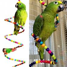 100CM Bird Toys Parrot Swing Exercise Rainbow Hamster Parrot Parakeet Toy Wooden Bird Ladder