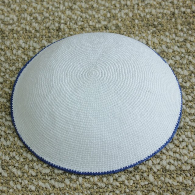 Cotton Thread Knitted Kippot Jewish Yarmulke Kippah Kippot 17cm