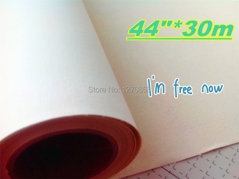 supplier of 44in cotton canvas 30m roll
