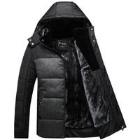 معطف الشتاء الرجال السود البخاخ سترة دافئة معطف سترة أبلى رجال القطن مبطن مقنع معطف القطن سترات X1509