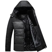 Abrigo de invierno de Los Hombres negro chaqueta globo caliente hombre abrigo esquimal outwear de algodón acolchado con capucha de down algodón de la capa de los hombres chaquetas X1509