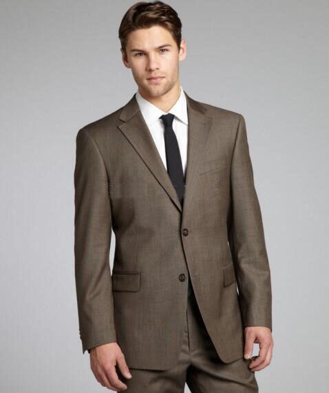 Коричневый Sharkskin мужской костюм на заказ Серый двухтональный тканый свадебный смокинг для мужчин, винтажный Блейзер на заказ Серый свадебн