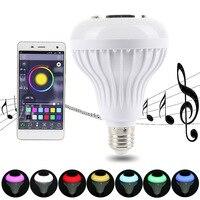 Oobest Bluetooth Speaker E27 LED RGB Light Music Mini Smart LED Audio Speaker Bulb Lamp Color